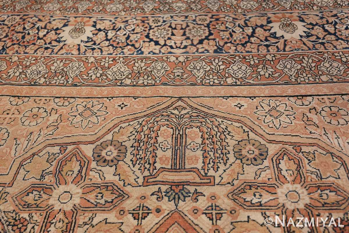 Antique Cream Color Persian Kerman Rug 42611 Willow Tree Nazmiyal