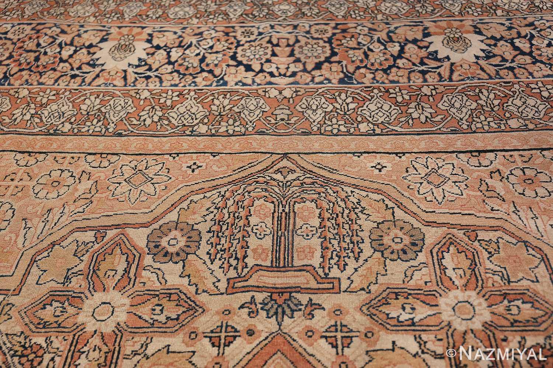 Antique Cream Color Persian Kerman Rug 42611 Willow Tree Nazmiyal