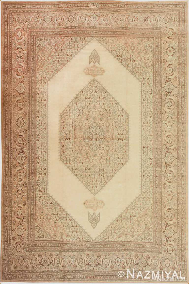 Antique Tabriz Persian Rug 2904 by Nazmiyal Antique Rugs
