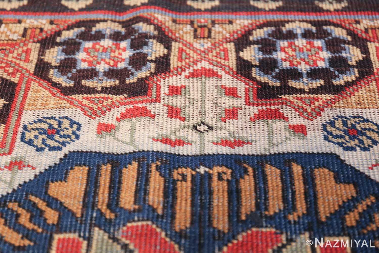 Antique Turkish Tuduc Mamluk Rug 42865 Green Flower Nazmiyal