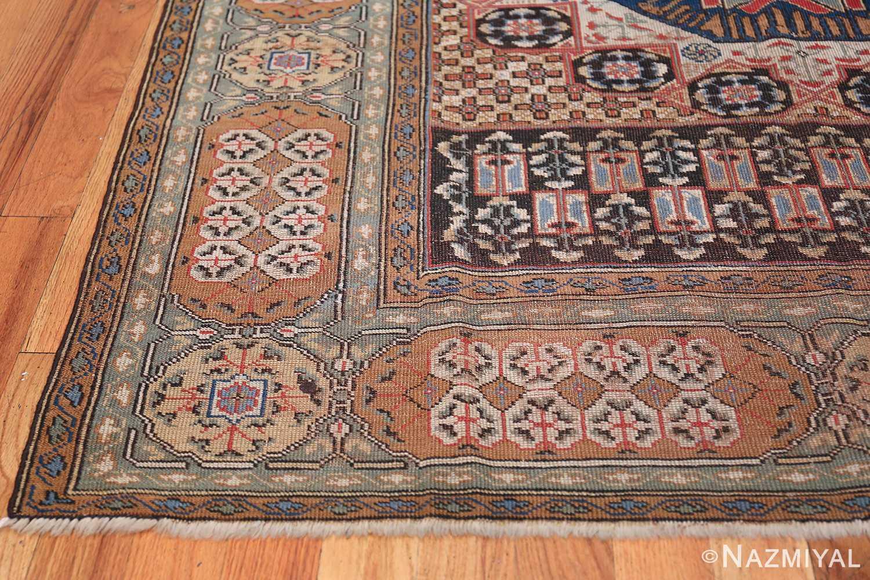 Antique Turkish Tuduc Mamluk Rug 42865 Side Corner Nazmiyal
