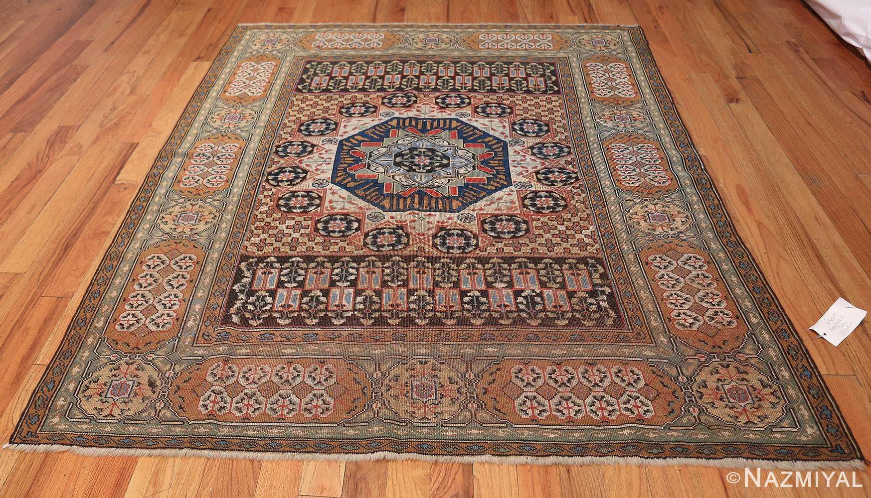 Antique Turkish Tuduc Mamluk Rug 42865 Whole Design Nazmiyal