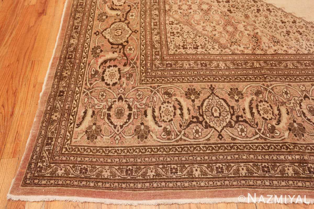 Corner Antique Tabriz Persian rug 2904 by Nazmiyal