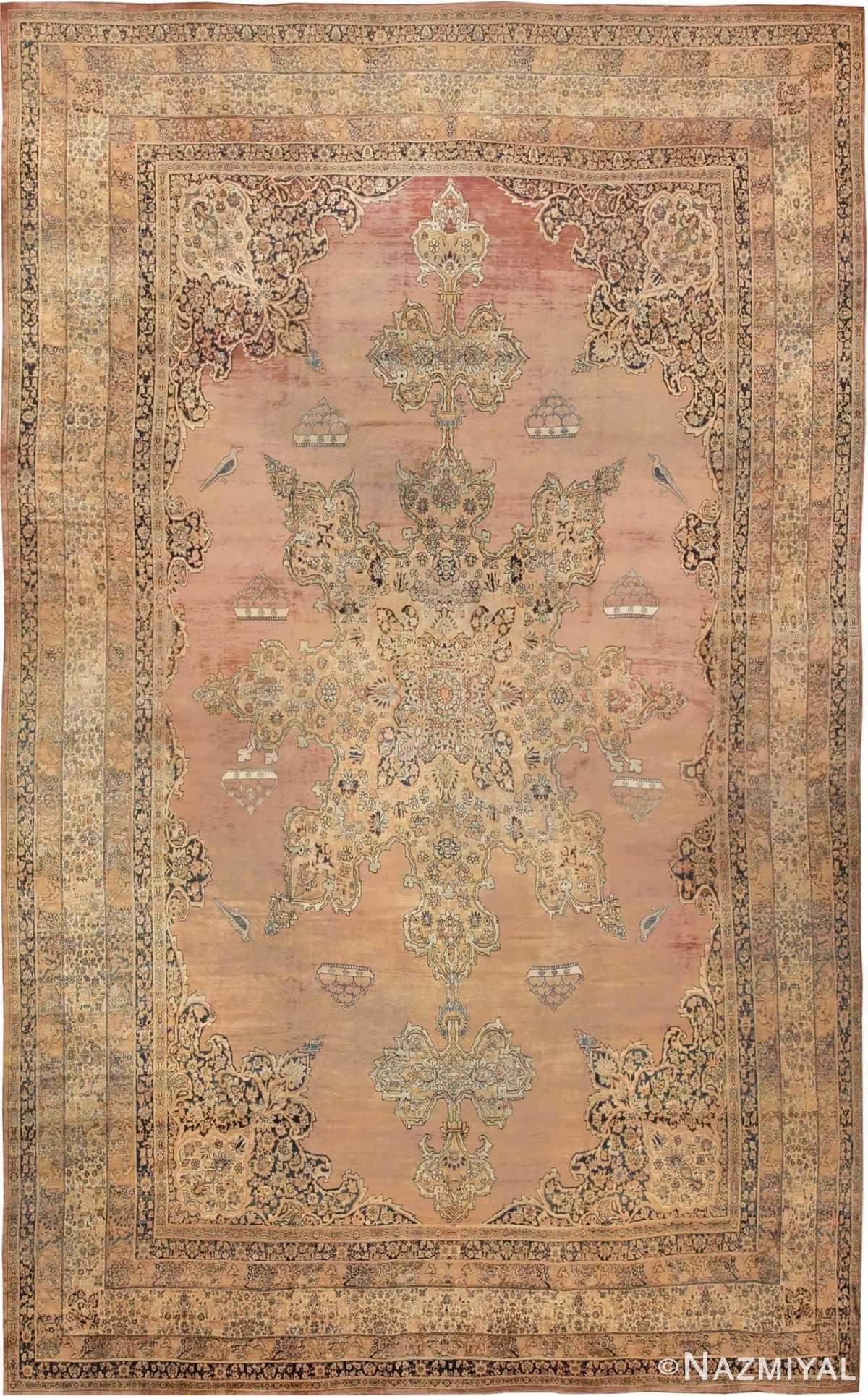 Large Oriental Oversized Antique Kerman Persian Rug #3273 - Nazmiyal