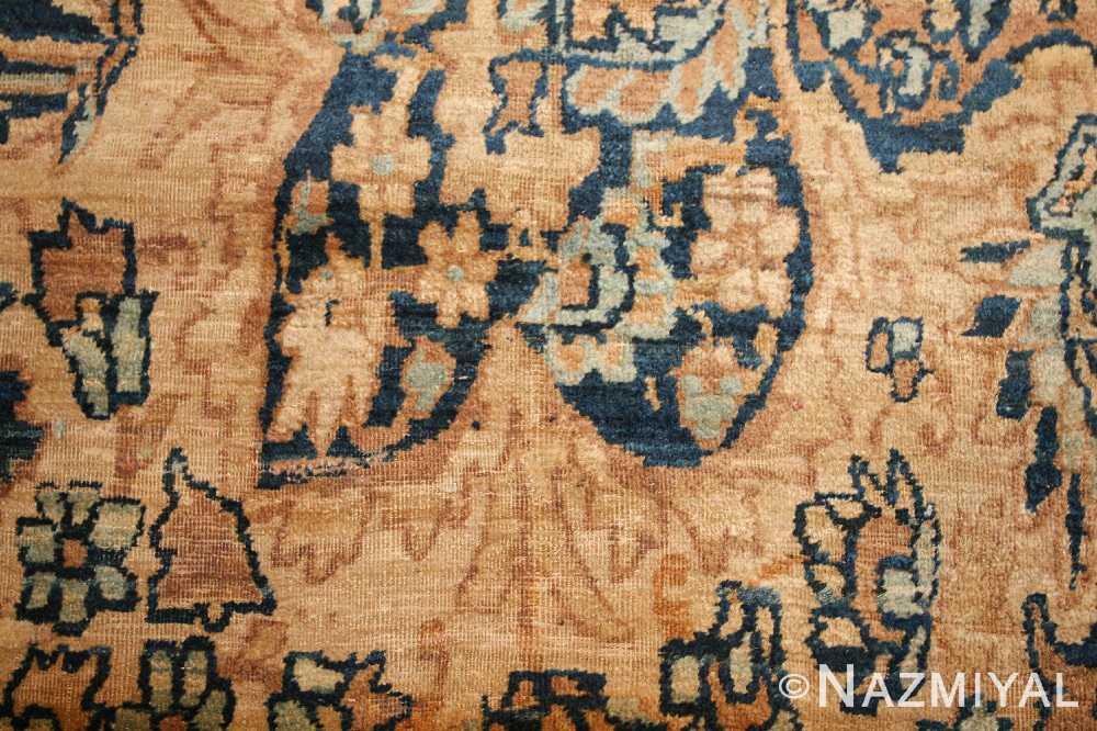 large oriental oversized antique kerman persian rug 3273 blue Nazmiyal