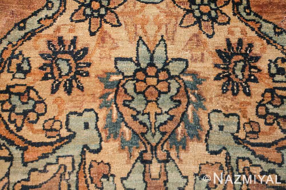 large oriental oversized antique kerman persian rug 3273 closeup Nazmiyal