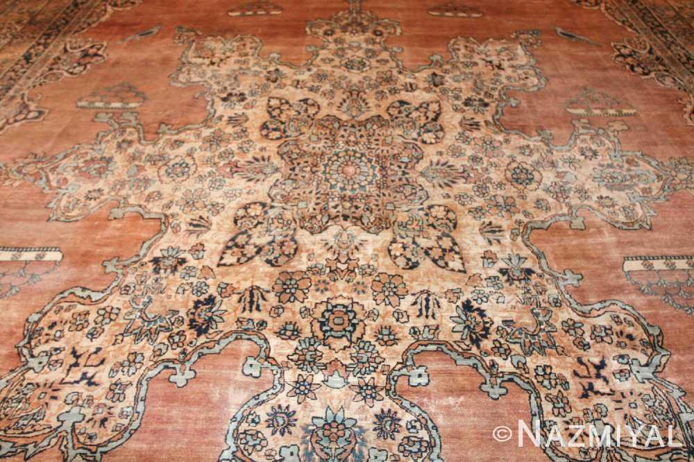 large oriental oversized antique kerman persian rug 3273 medallion Nazmiyal