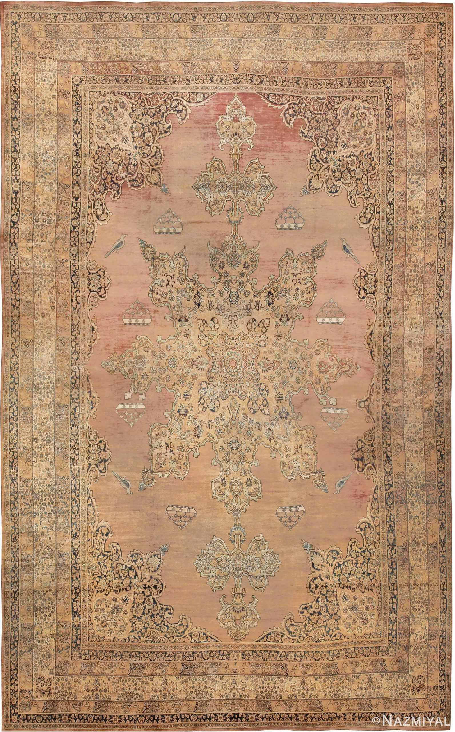 Large Oriental Oversized Antique Kerman Persian Rug 3273 Nazmiyal