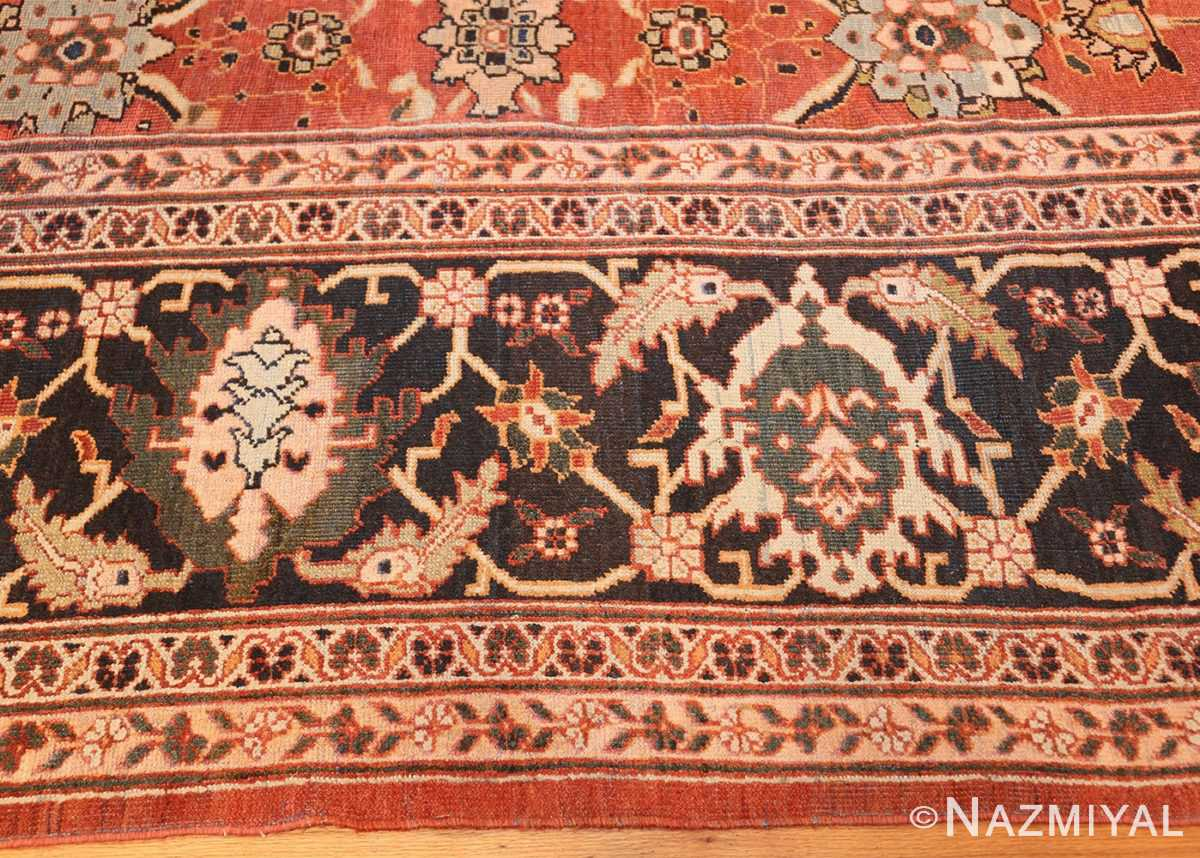 large oversized antique persian rust color sultanabad rug 42746 border Nazmiyal
