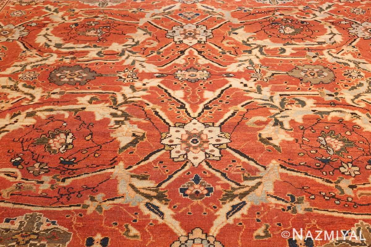 large oversized antique persian rust color sultanabad rug 42746 center Nazmiyal