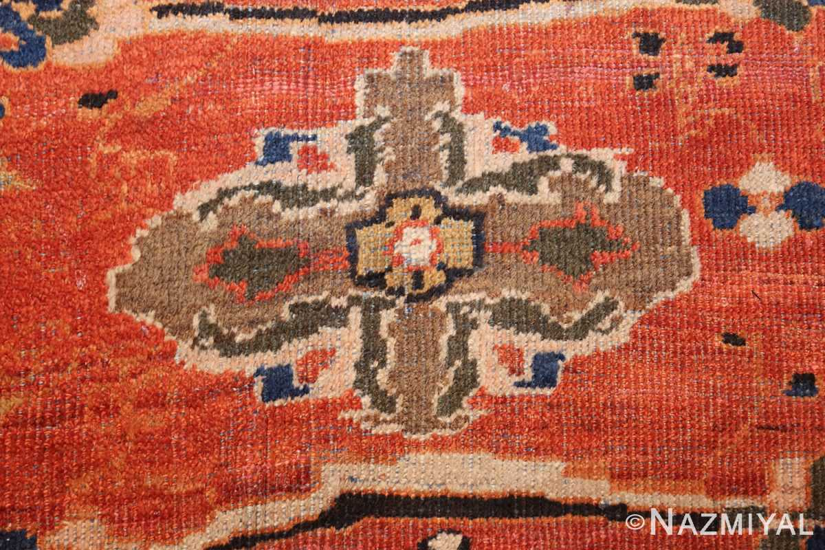 large oversized antique persian rust color sultanabad rug 42746 closeup Nazmiyal
