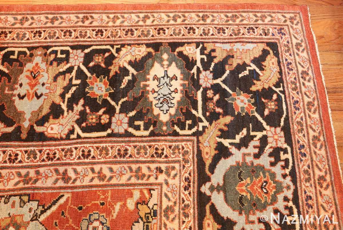 large oversized antique persian rust color sultanabad rug 42746 corner Nazmiyal