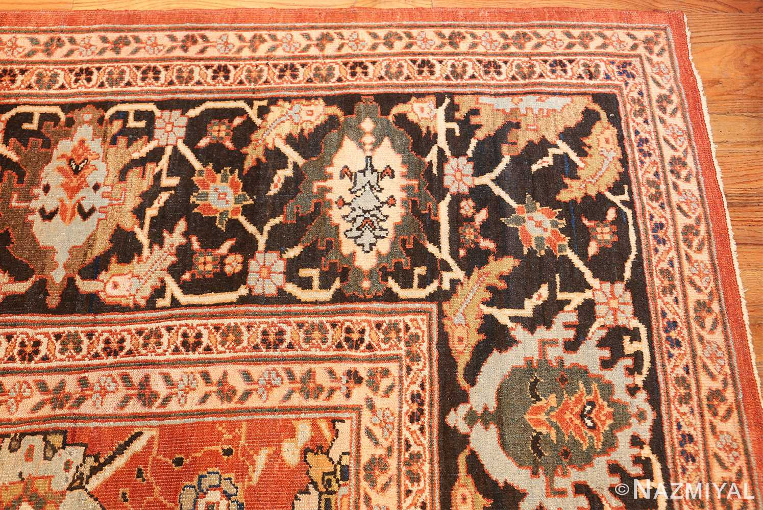 large oversized antique persian rust color sultanabad rug 42746 corner Nazmiyal