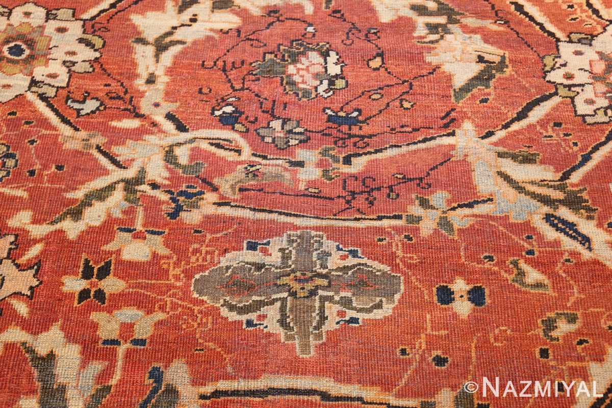 large oversized antique persian rust color sultanabad rug 42746 design Nazmiyal