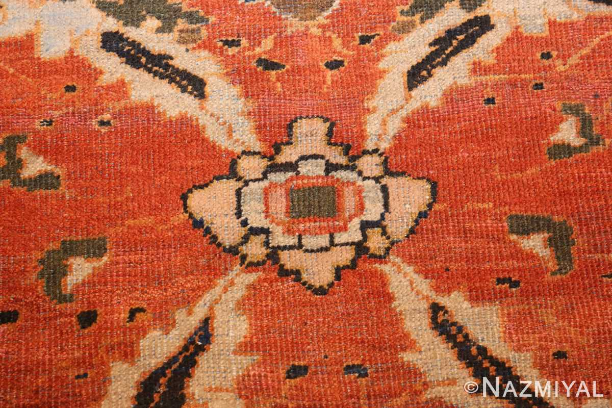 large oversized antique persian rust color sultanabad rug 42746 detailed Nazmiyal