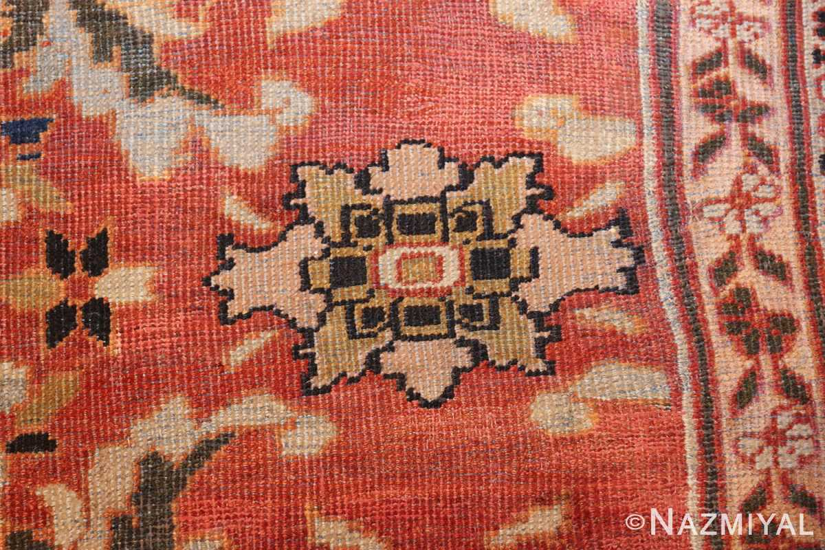 large oversized antique persian rust color sultanabad rug 42746 flower Nazmiyal