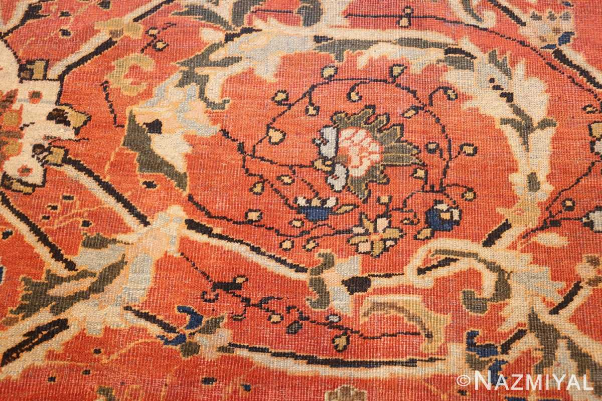 large oversized antique persian rust color sultanabad rug 42746 scrolls Nazmiyal