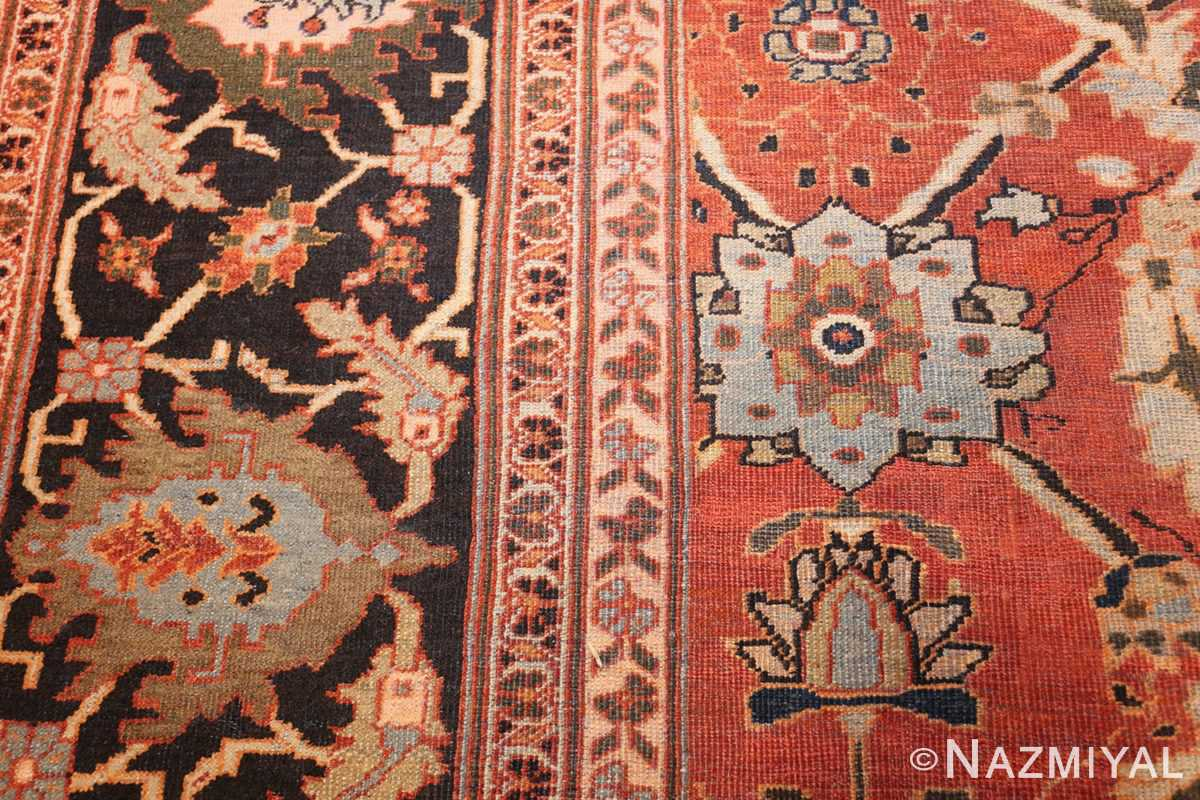 large oversized antique persian rust color sultanabad rug 42746 side Nazmiyal