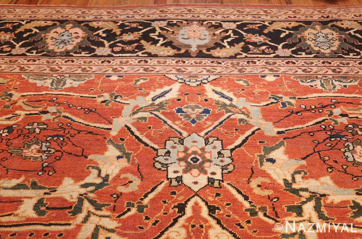 large oversized antique persian rust color sultanabad rug 42746 top Nazmiyal