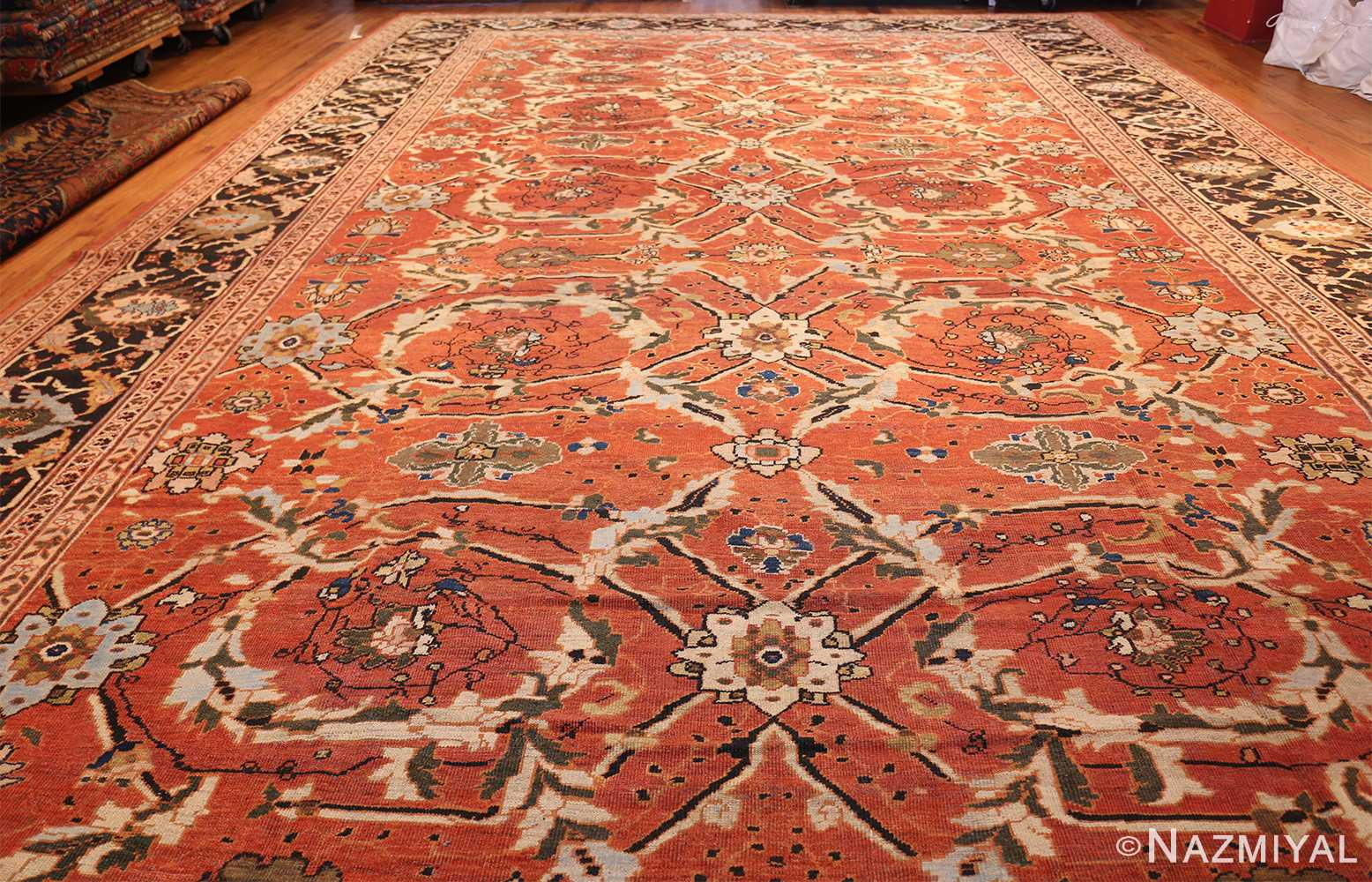 large oversized antique persian rust color sultanabad rug 42746 whole Nazmiyal