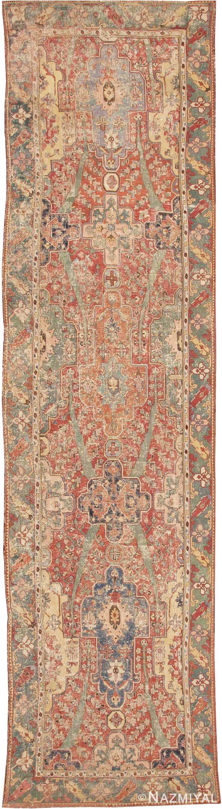 Rare Antique 17th Century Gallery Size Khorassan Persian Rug #3289 by Nazmiyal Antique Rugs