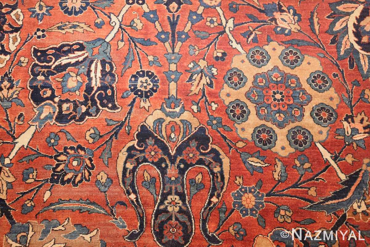 antique kerman persian rug 42465 flowers Nazmiyal