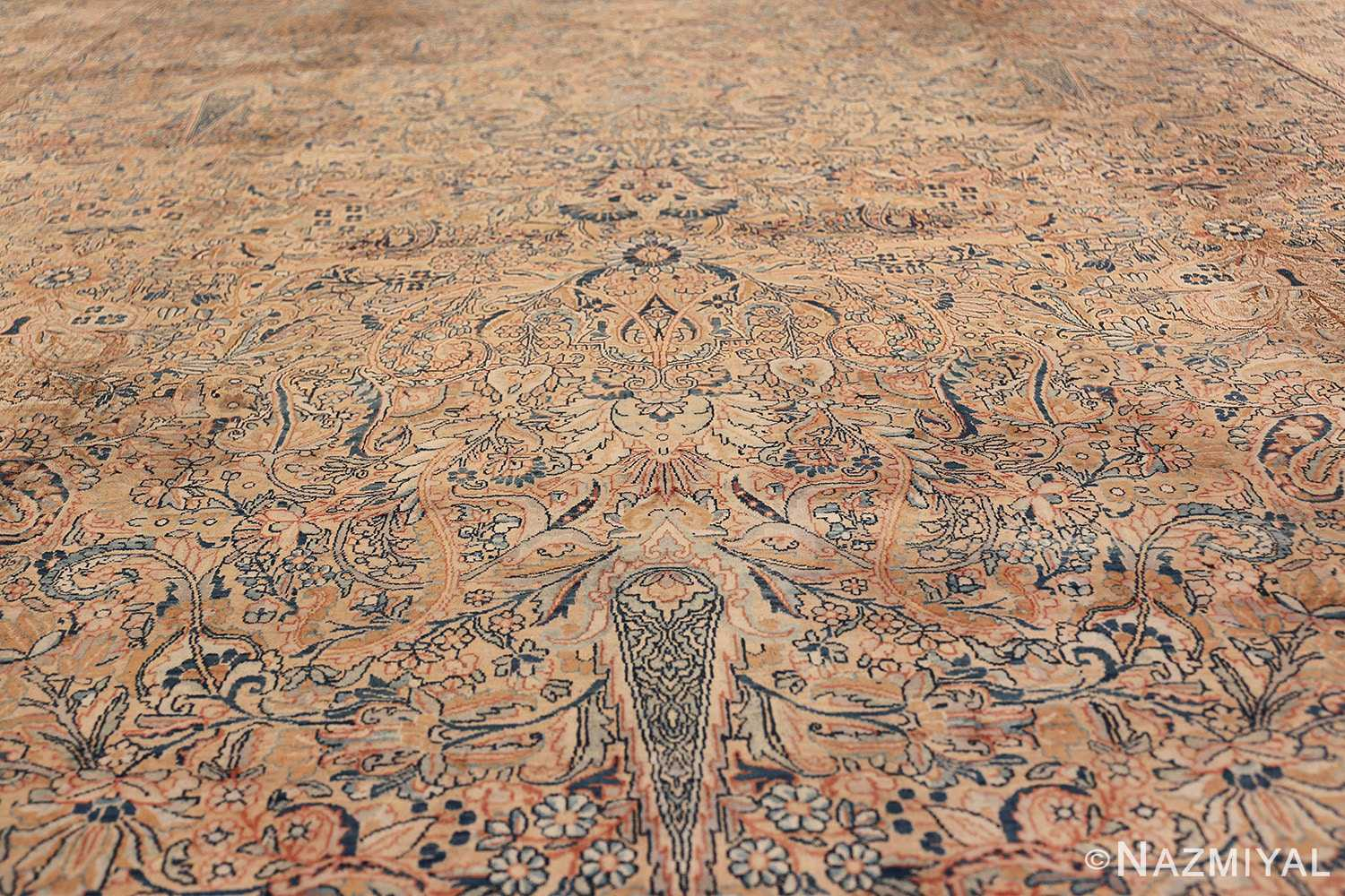 Antique Kerman Persian Rug 48986 Field Light Side Nazmiyal