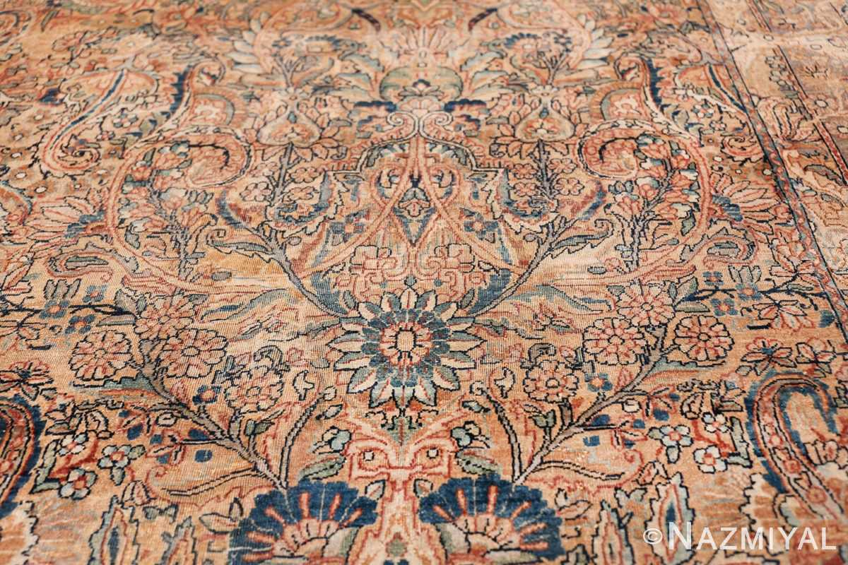 Antique Kerman Persian Rug 48986 Flower Design Nazmiyal