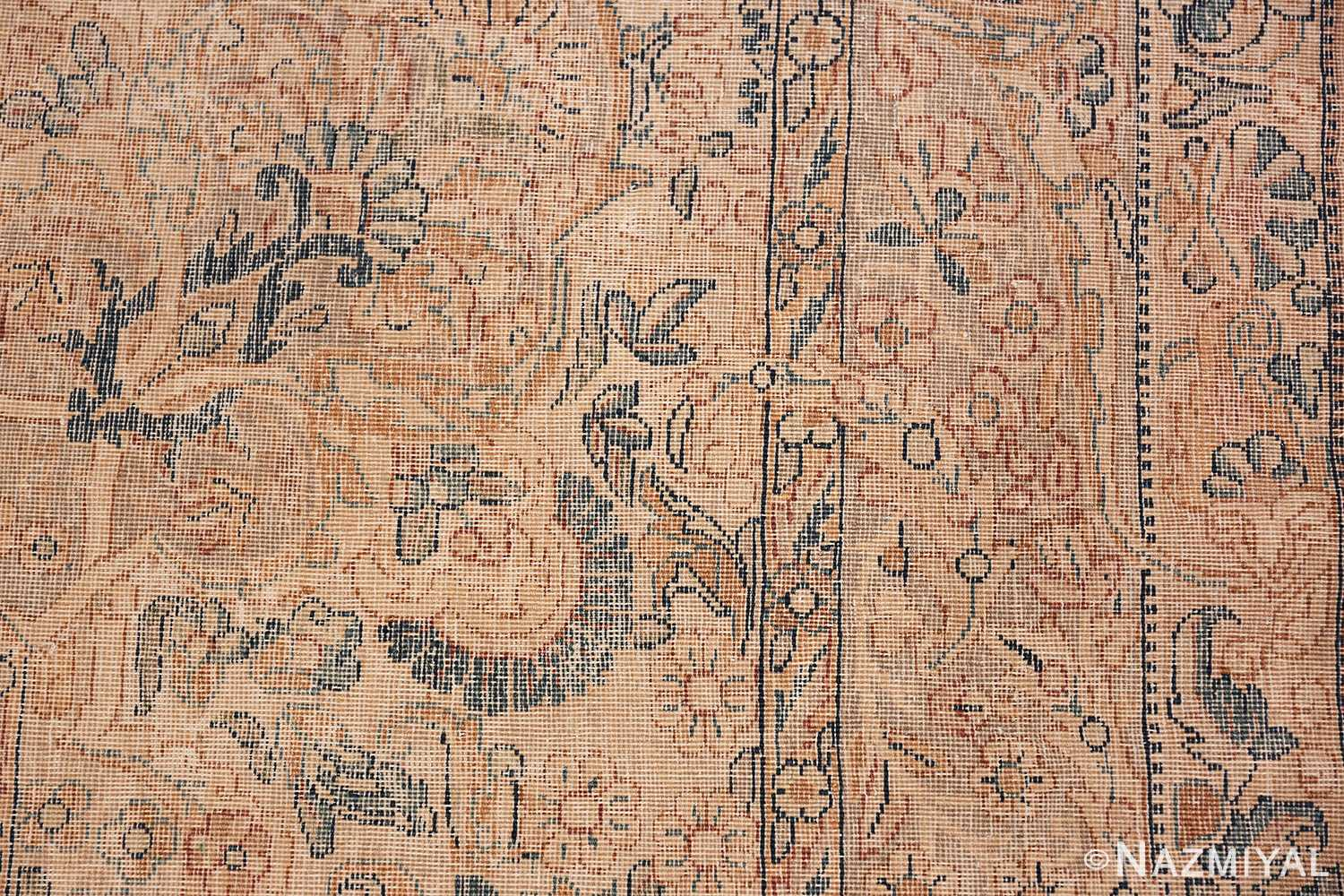Antique Kerman Persian Rug 48986 Knots Woven Nazmiyal