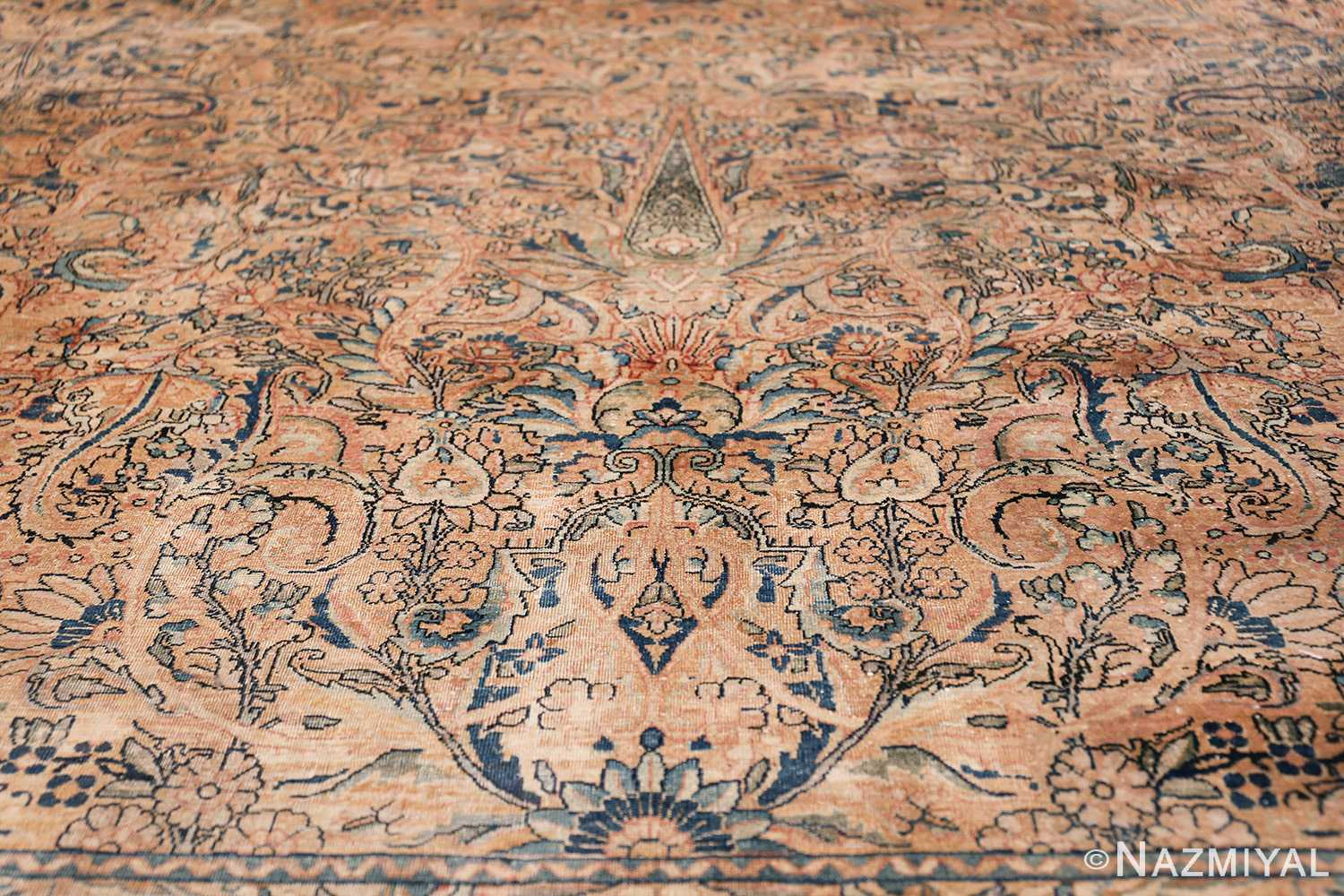 Antique Kerman Persian Rug 48986 Lower Pine Tree Nazmiyal
