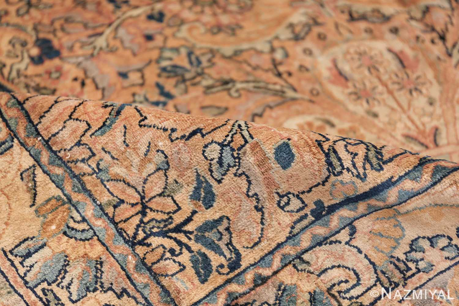 Antique Kerman Persian Rug 48986 Pile Dark Side Nazmiyal
