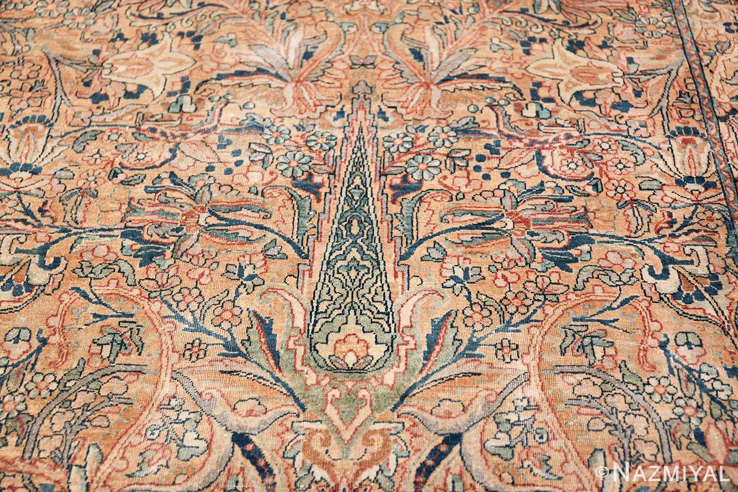 Antique Kerman Persian Rug 48986 Scrolls on Pine Nazmiyal