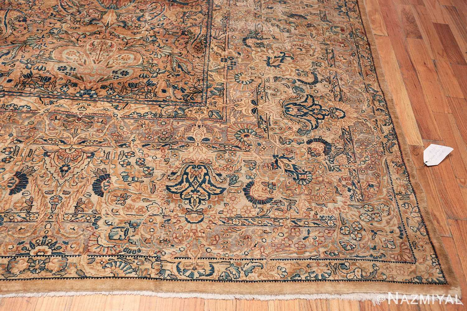 Antique Kerman Persian Rug 48986 Side Corner Nazmiyal
