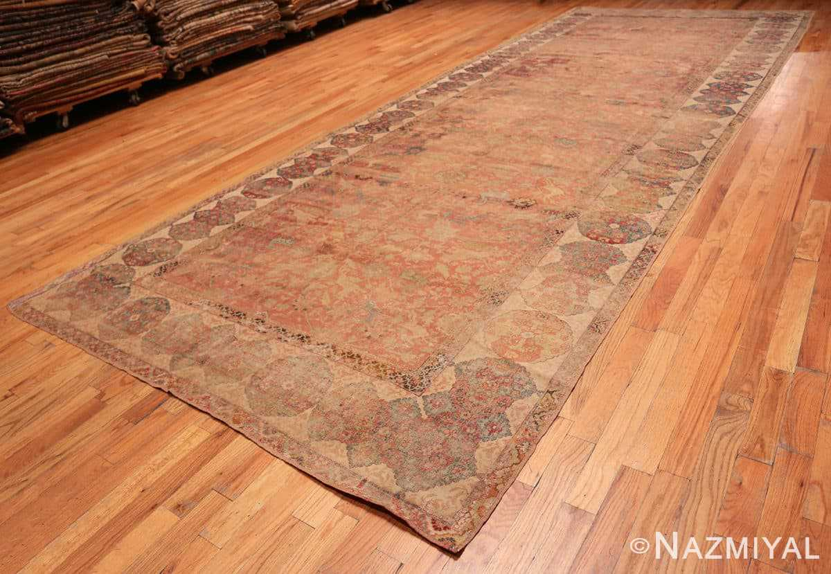 Full Antique gallery size 17th Century Isfahan Persian rug 3338 by Nazmiyal