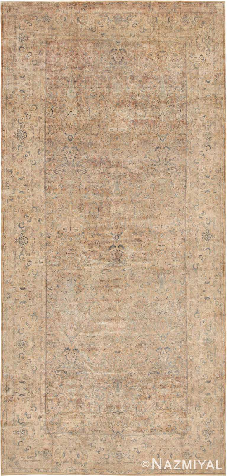 Washed Out Oversized Antique Kerman Persian Rug #48986 by Nazmiyal Antique Rugs
