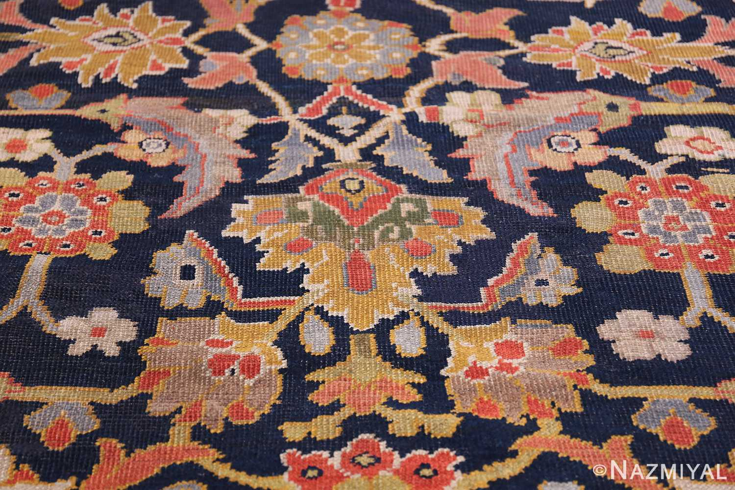 Oversized Antique Persian Ziegler Sultanabad Rug 3325 Closeup Look Nazmiyal