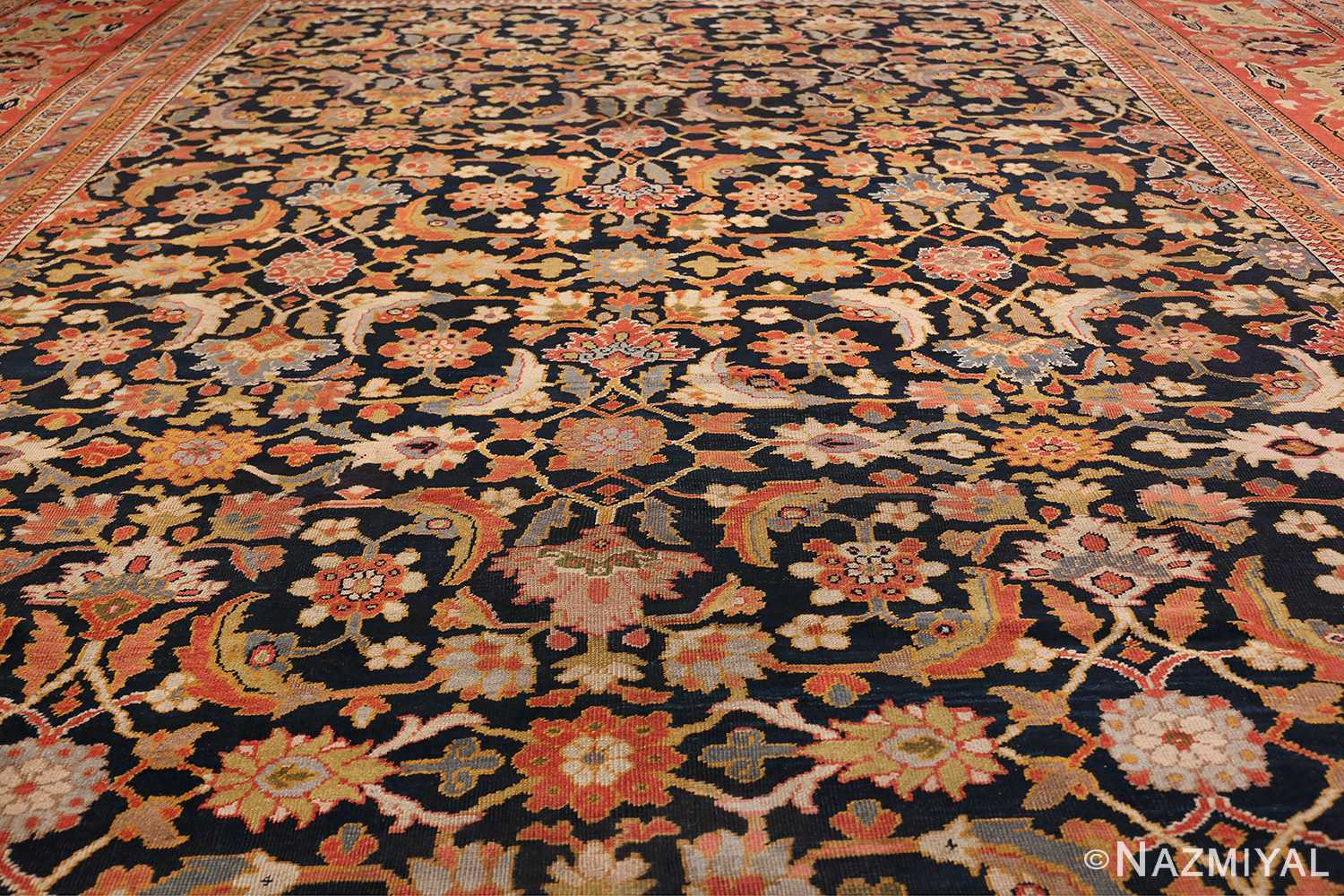 Oversized Antique Persian Ziegler Sultanabad Rug 3325 Field Design Nazmiyal