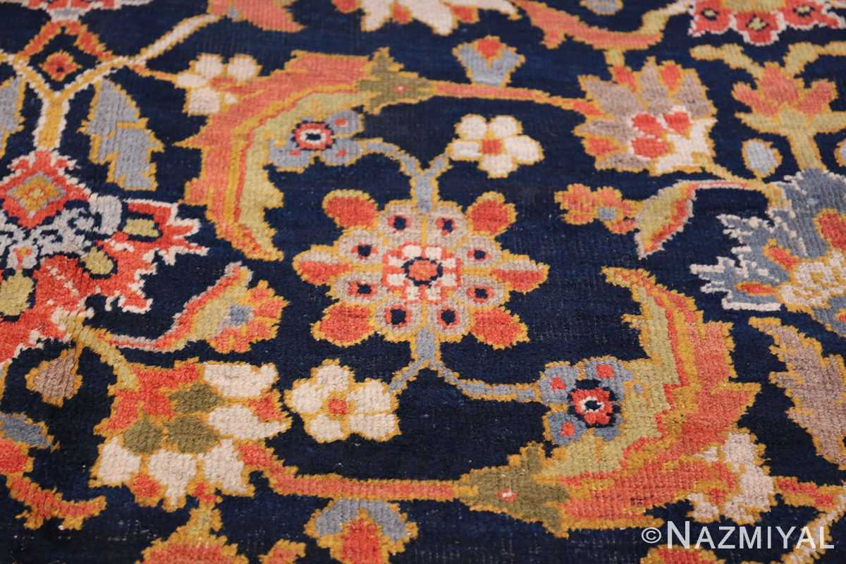 Oversized Antique Persian Ziegler Sultanabad Rug 3325 Green Leaves Nazmiyal
