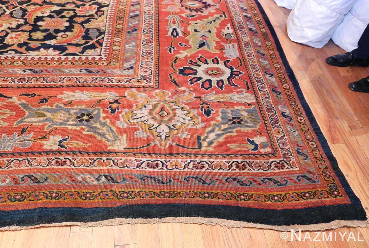 Oversized Antique Persian Ziegler Sultanabad Rug 3325 Side Corner Nazmiyal
