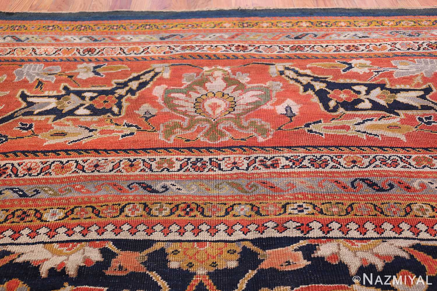 Oversized Antique Persian Ziegler Sultanabad Rug 3325 Top Border Nazmiyal