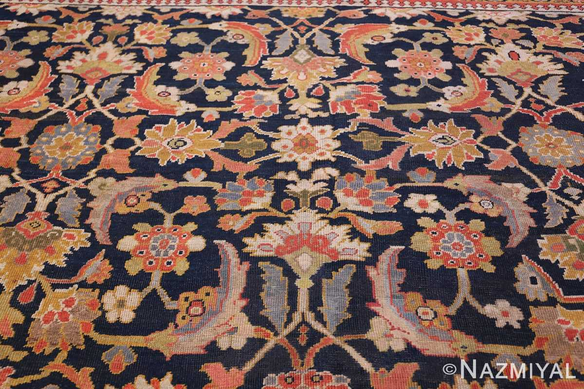 Oversized Antique Persian Ziegler Sultanabad Rug 3325 White Middle Nazmiyal