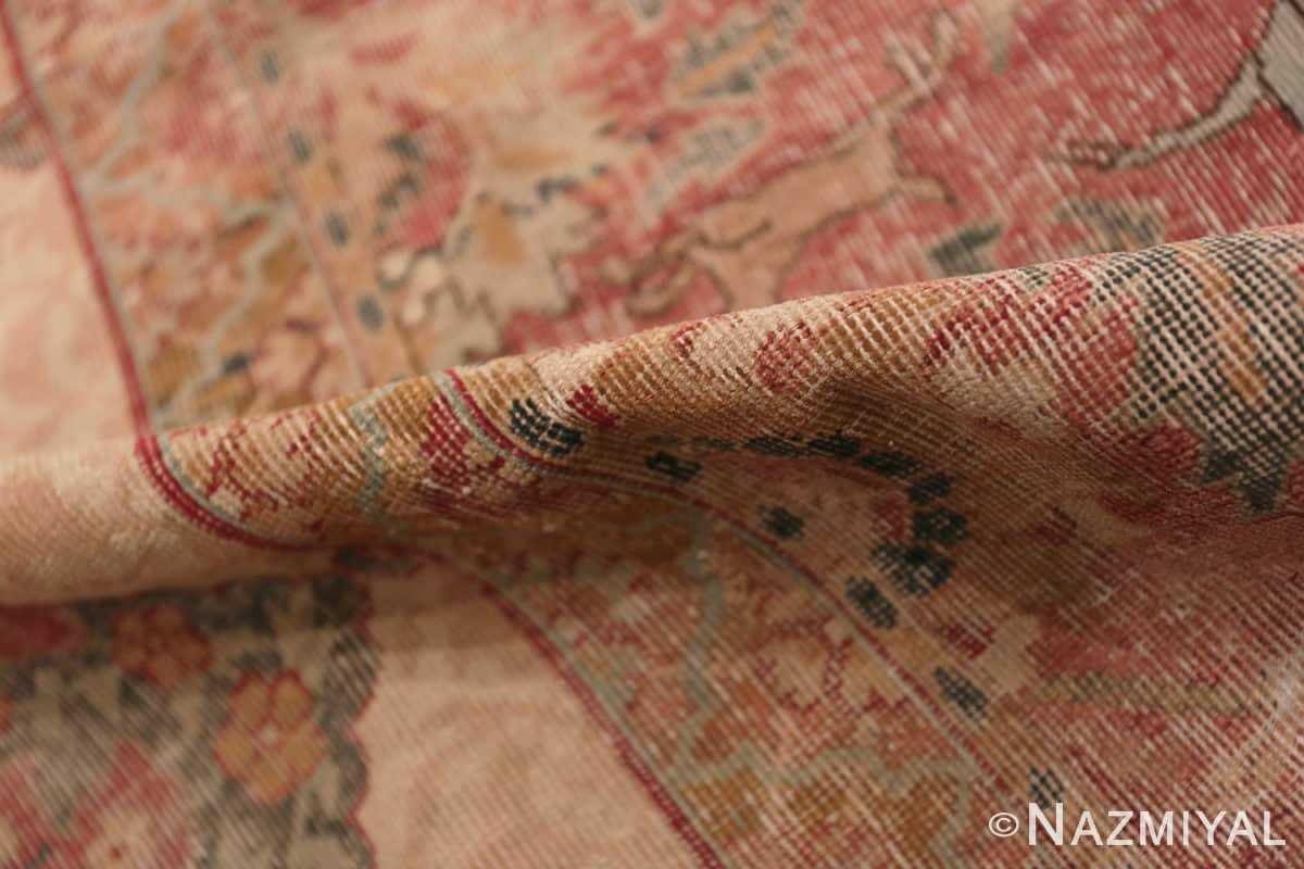 Pile Antique gallery size 17th Century Isfahan Persian rug 3338 by Nazmiyal