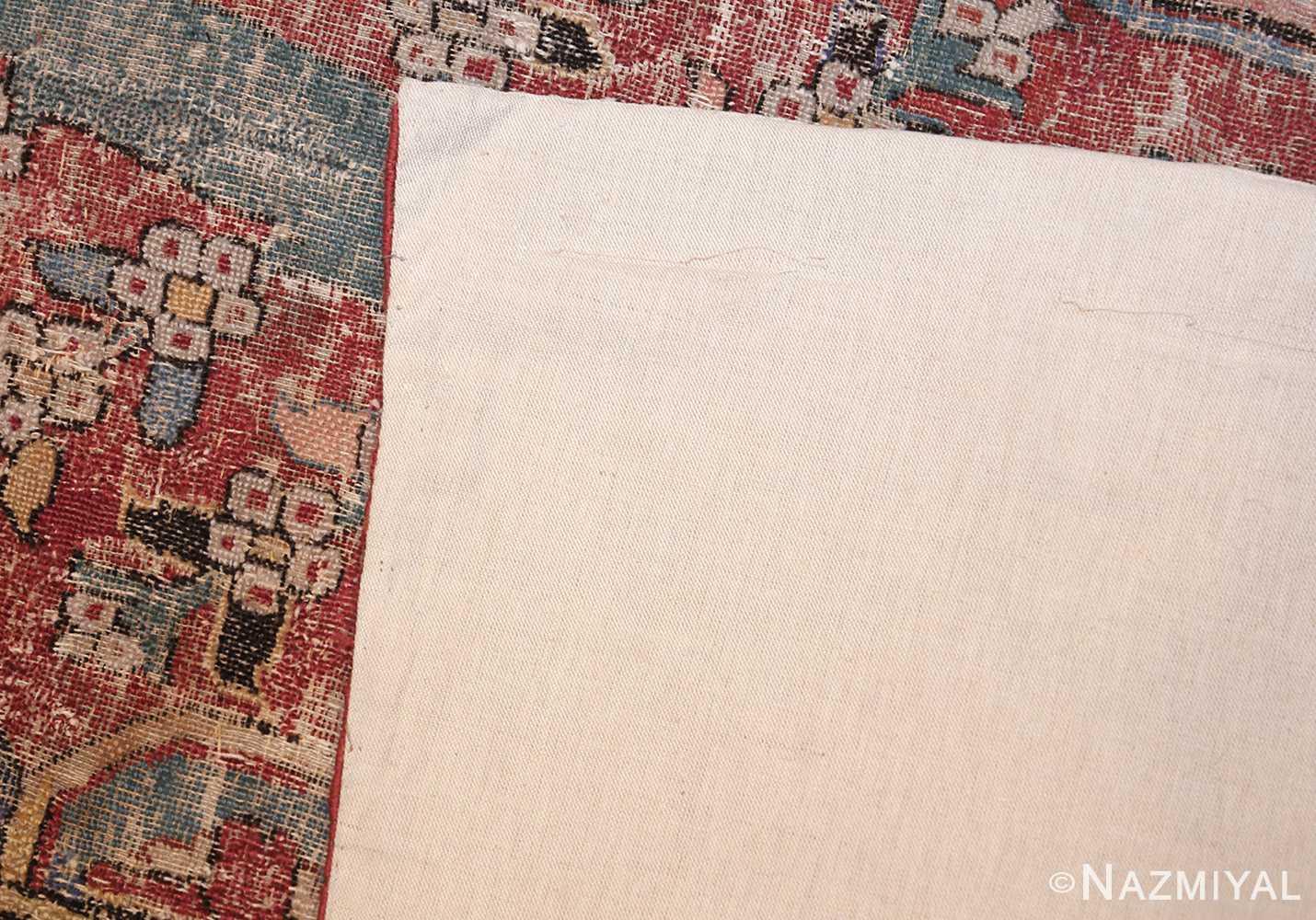 rare antique 17th century gallery size khorassan persian rug 3289 back Nazmiyal