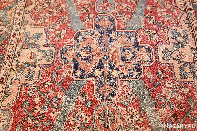 rare antique 17th century gallery size khorassan persian rug 3289 blue medallion Nazmiyal