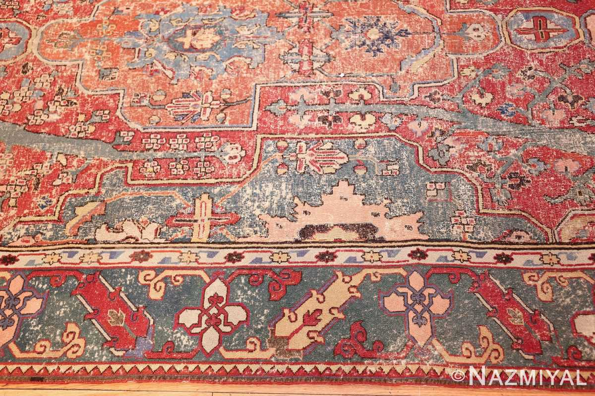 rare antique 17th century gallery size khorassan persian rug 3289 border Nazmiyal