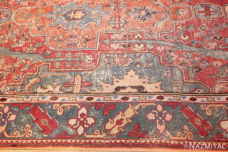 rare antique 17th century gallery size khorassan persian rug 3289 border Nazmiyal