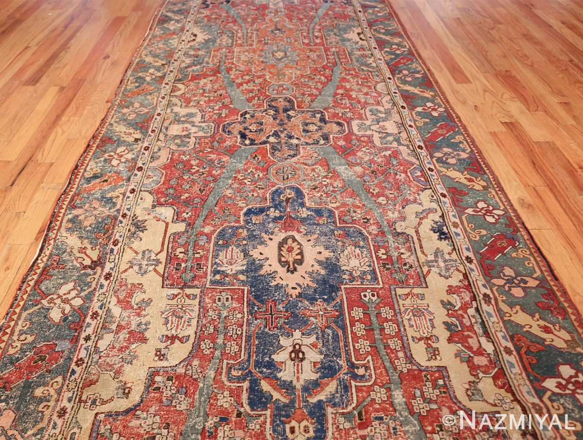 rare antique 17th century gallery size khorassan persian rug 3289 center Nazmiyal