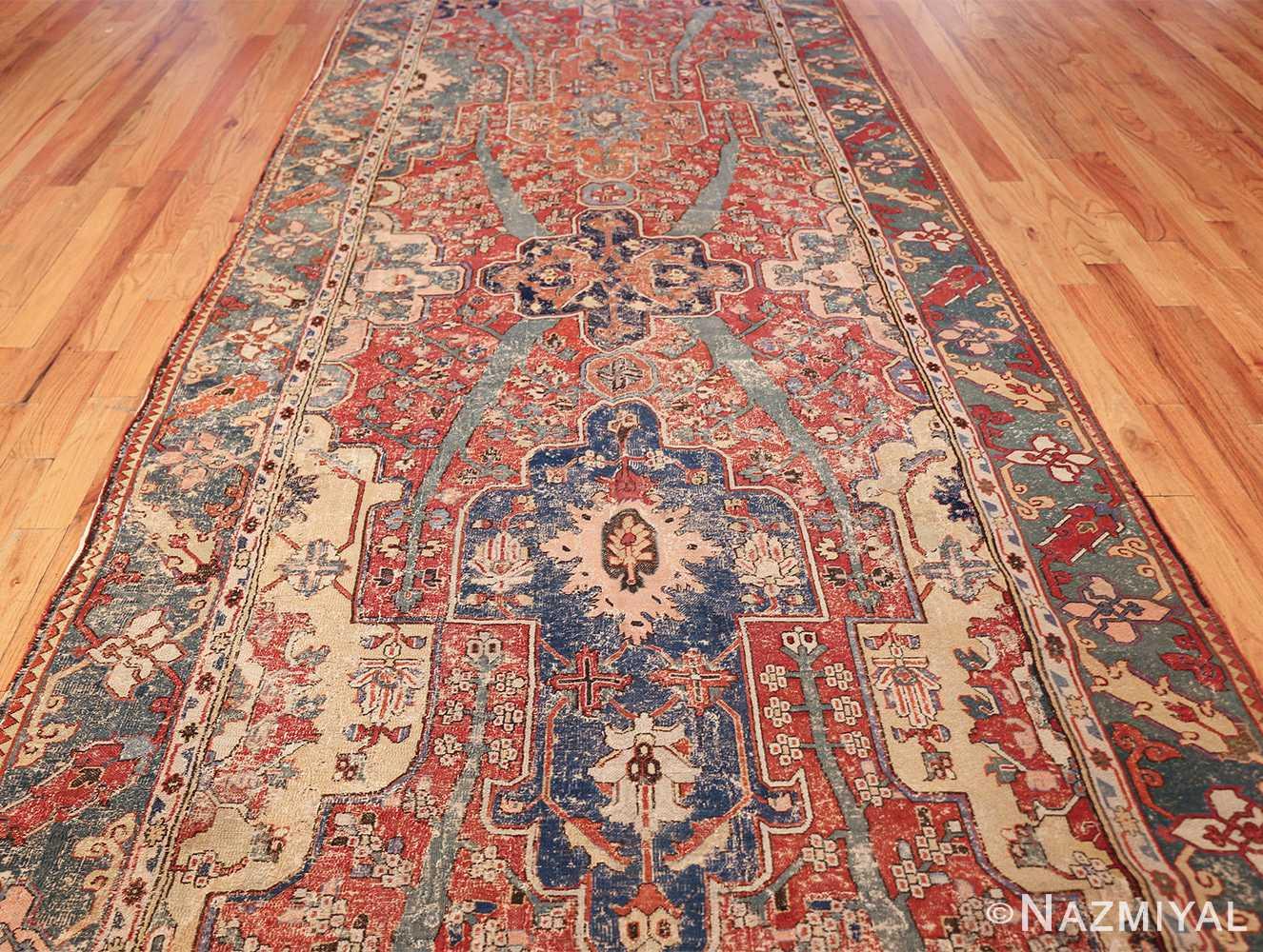 rare antique 17th century gallery size khorassan persian rug 3289 center Nazmiyal