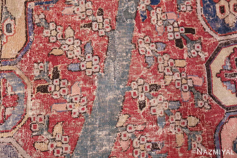rare antique 17th century gallery size khorassan persian rug 3289 closeup Nazmiyal