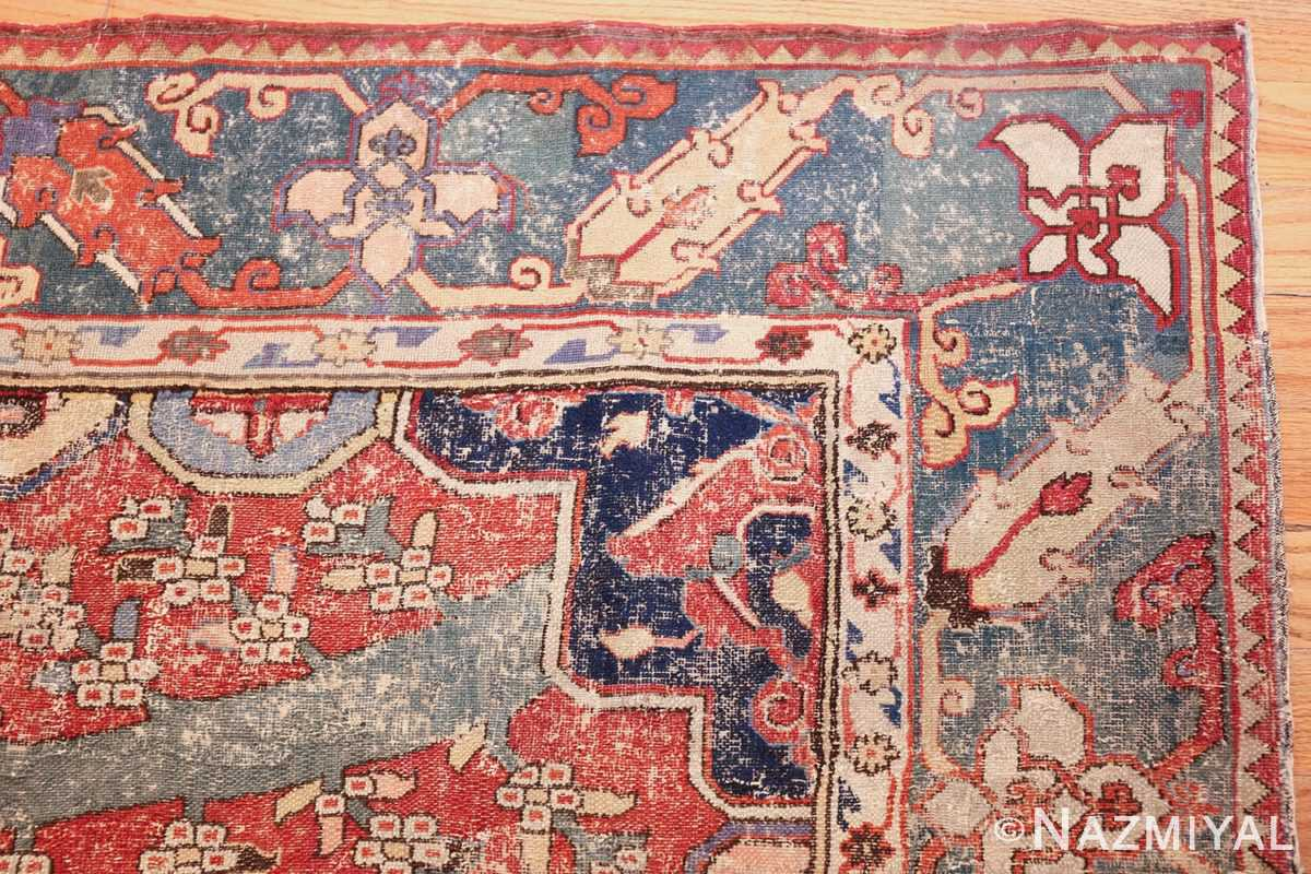 rare antique 17th century gallery size khorassan persian rug 3289 corner Nazmiyal